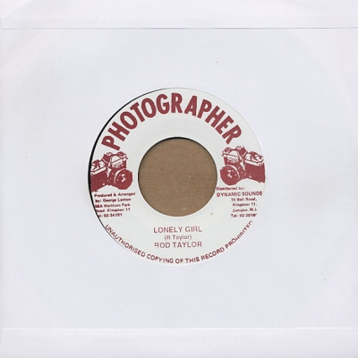 Rod Taylor - Lonely Girl / Version   Photographer   7""