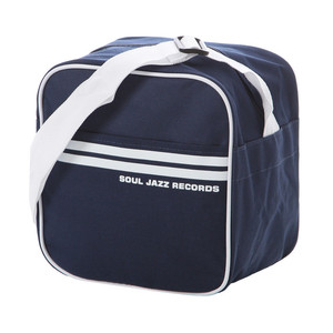 "Record Bag - Soul Jazz Design, Navy Blue Color, For 7"" Records"