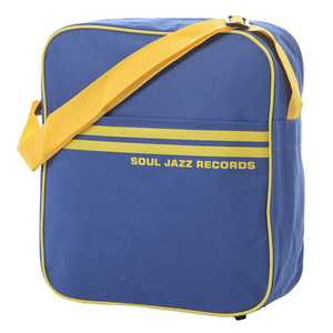 Record Bag - Soul Jazz Design, Blue With Yellow Stripes for LP